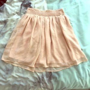 Delia's Blush Pink Chiffon Skirt